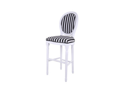 Louis Bar Chair_Black and White_s